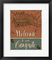 Framed Lodge Sign - Welcome to the Campsite