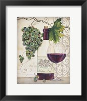 Framed Chateau Plout Wine-B