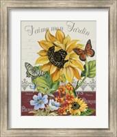 Framed Jaime mon Jardin