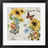 Framed Jaime mon Jardin - White
