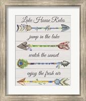 Framed Sentimental Arrows-Lake House Rules