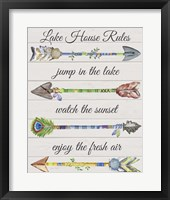 Framed Sentimental Arrows-Lake House Rules