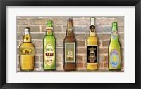 Framed Beer Bottle On Brick-5