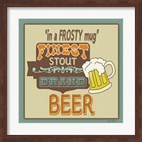 Framed Frosty Beer