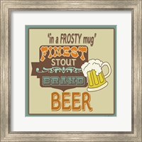 Framed Frosty Beer