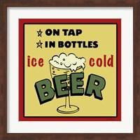 Framed Ice Cold Beer