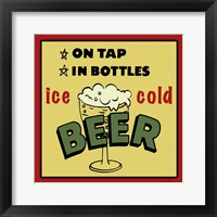 Framed Ice Cold Beer