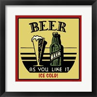 Framed Cold Beer