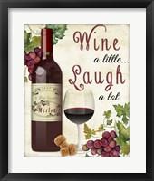 Framed Wine A Little