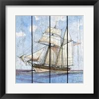 Framed Nautical Ships-B