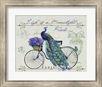 Framed Peacock On Bicylce II