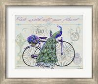 Framed Peacock On Bicylce III