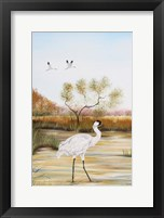Framed Whooping Cranes - B