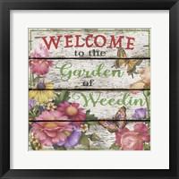 Framed Country Garden Sign - E