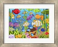 Framed Colorful Sea Life