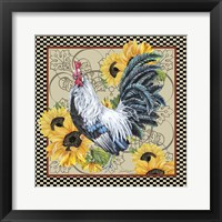 Framed Country Time Rooster - C