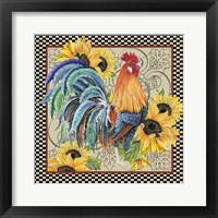 Framed Country Time Rooster - D