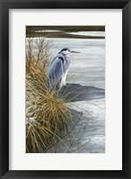 Framed Winter Heron