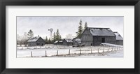 Framed Amish Winter