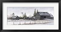 Framed Amish Winter