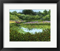 Framed Monets Boat