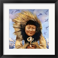 Framed Eskimo Girls