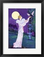 Framed Pierrot And Doves