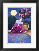 Framed Pierrot At Water Lily Pond