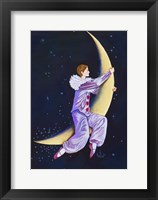 Framed Pierrot Riding The Moon
