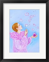 Framed Pierrot's Bubbles Of Love