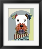 Framed Airedale Terrier Dog