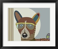 Framed Basenji Dog