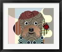 Framed Bichon Frise Dog