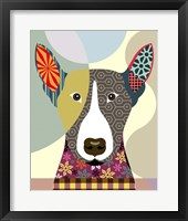Framed Bull Terrier Dog