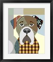 Framed BullMastiff Dog
