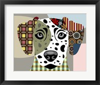 Framed Dalmatian Dog
