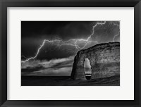 Framed BW Lightning at MR