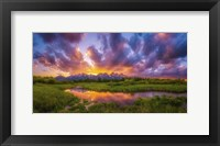 Framed Grand Sunset in the Tetons