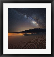 Framed Milky Way over Mesquite Dunes