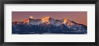 Framed Mount Princeton Moonset at Sunrise