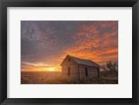 Framed Sunset on the Prairie