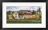 Framed House, Quilt & Red Barn