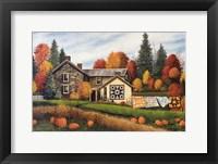 Framed Pumpkins Fall Quilts