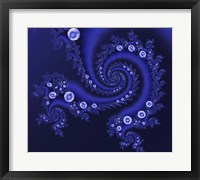 Framed Marbleized Blue