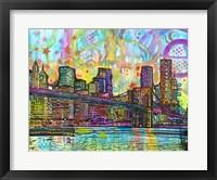 Framed NYC-Brooklyn Bridge