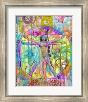 Framed Vitruvian Man