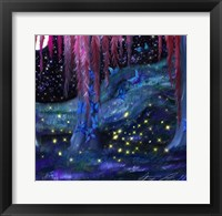 Framed Firefly Night
