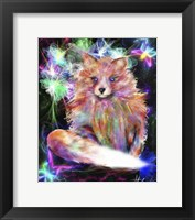Framed Galaxy Baby Fox