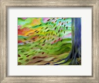 Framed Pastel Autumn Leaves