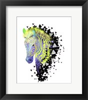 Framed Yellow Zebra Head